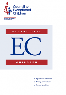 Cover of Exceptional Children